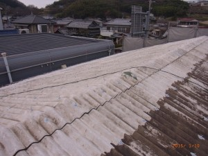 M様邸施工前屋根